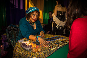 fortune teller at a party