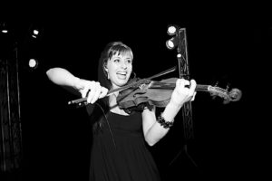 electric violin player