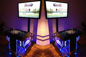 Arcade game center for parties and events