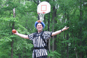 Basketball Ref on Stilts