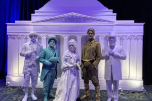 Group Shot of our Living Presidential Statues