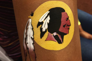 redskins airbrush tattoo