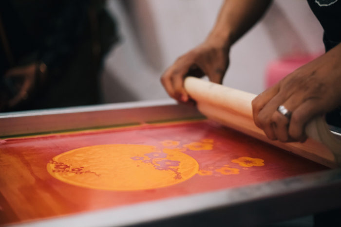 live screen printing art experience